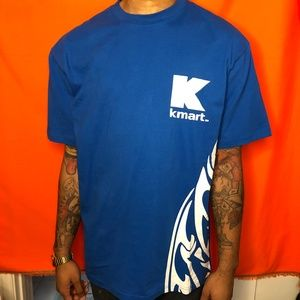 Vtg Kmart tribal staff blue shirt